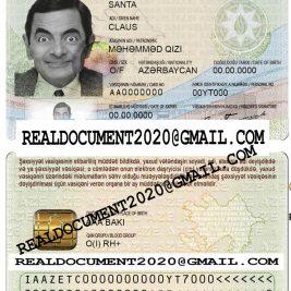 Fake Azerbaijan ID Card
