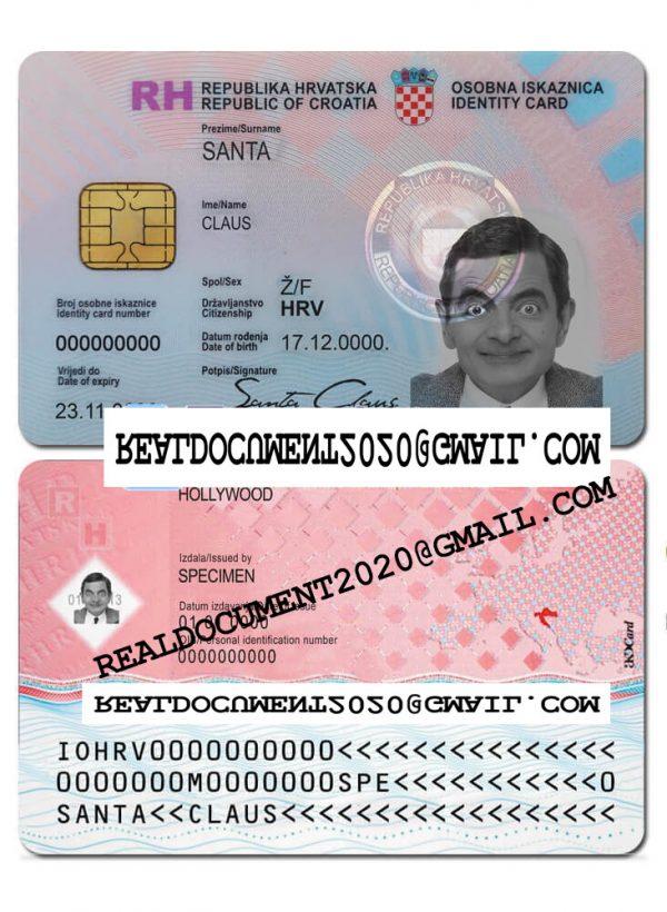 Fake Croatian ID Card