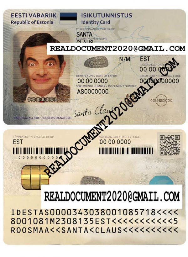 Fake estonian id card