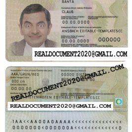 Fake german id card
