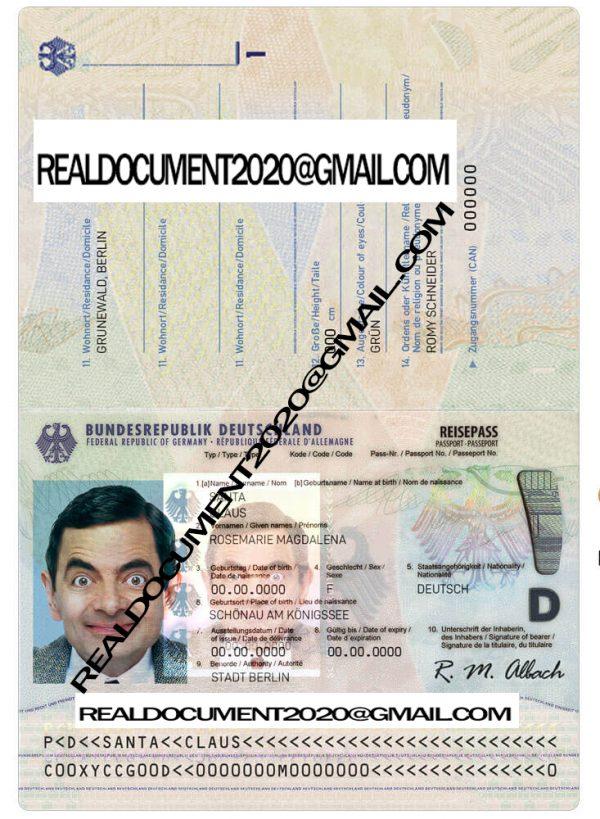 Buy German Passport NEW