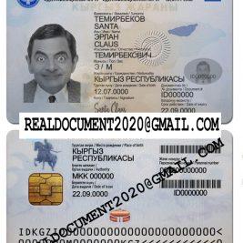fake Kyrgyzstan ID card
