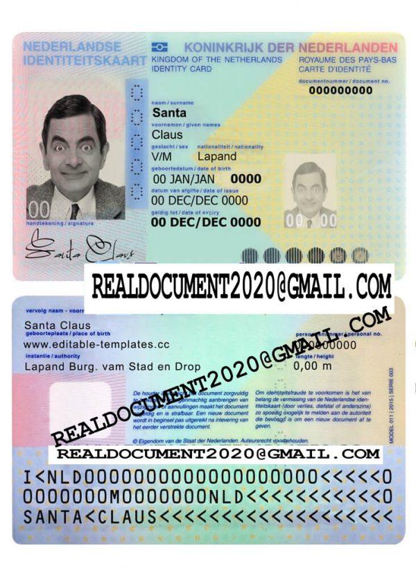 Fake Netherlands ID Card
