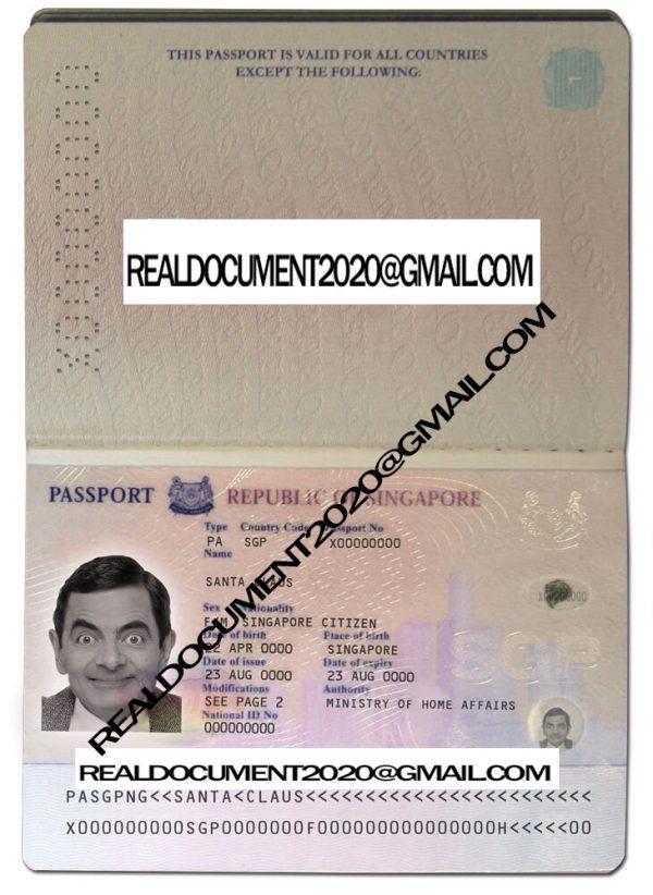 buy Singaporean Passport