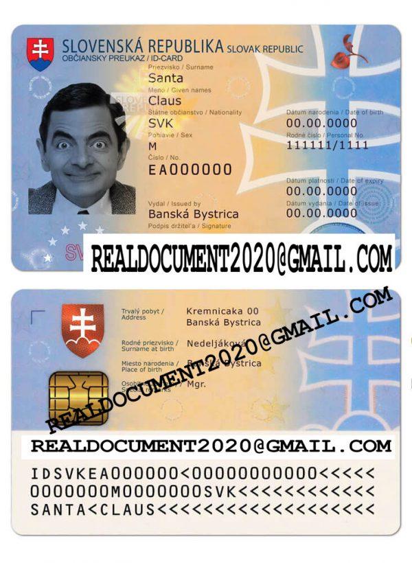 buy fake Slovak identity card
