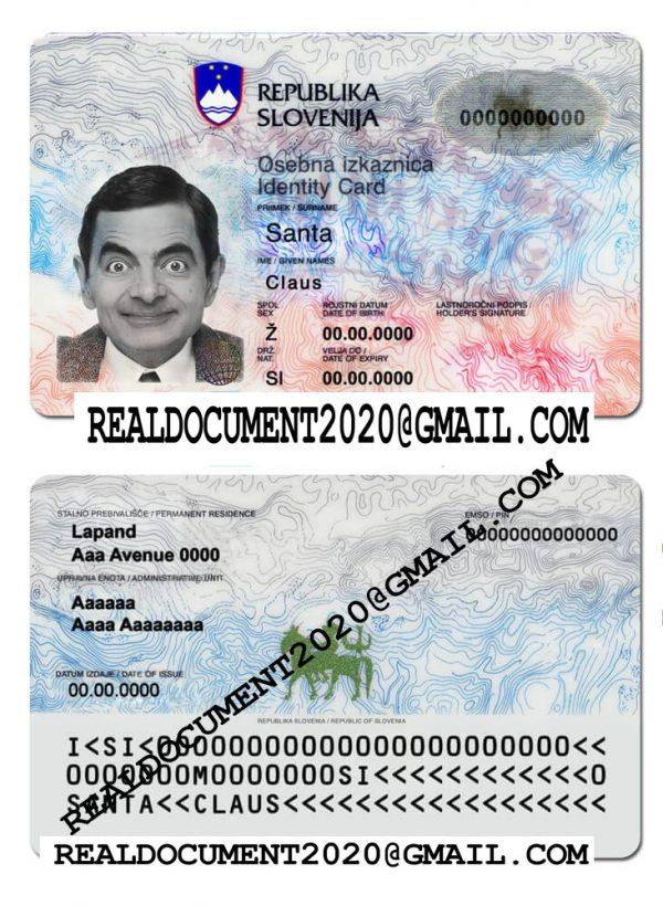 Buy Fake Slovenian ID Card