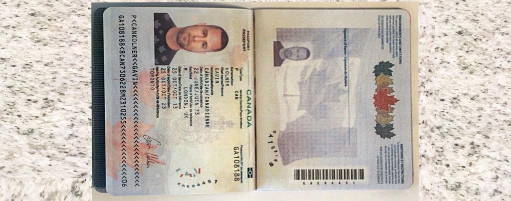 fake passport online