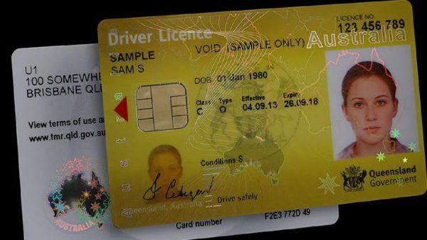 QLD Australia Driver License