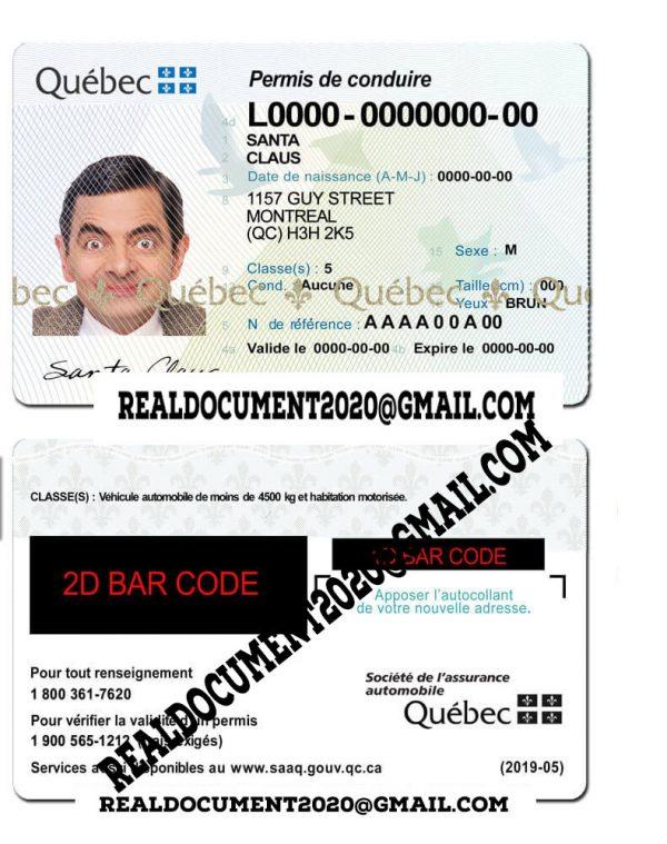 Fake Quebec Driver License