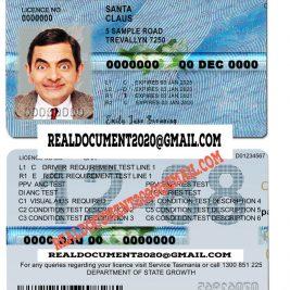 fake Tasmania Australia Driving Licence
