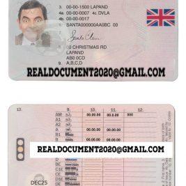 fake UK Driving Licence