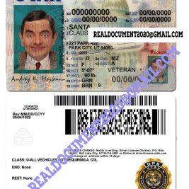 Fake Utah Driving Licence